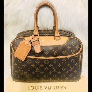 Authentic Louis Vuitton Deauville #2.8ahj